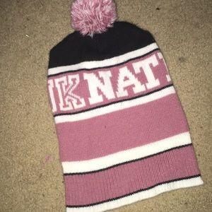 Pink nation beanie